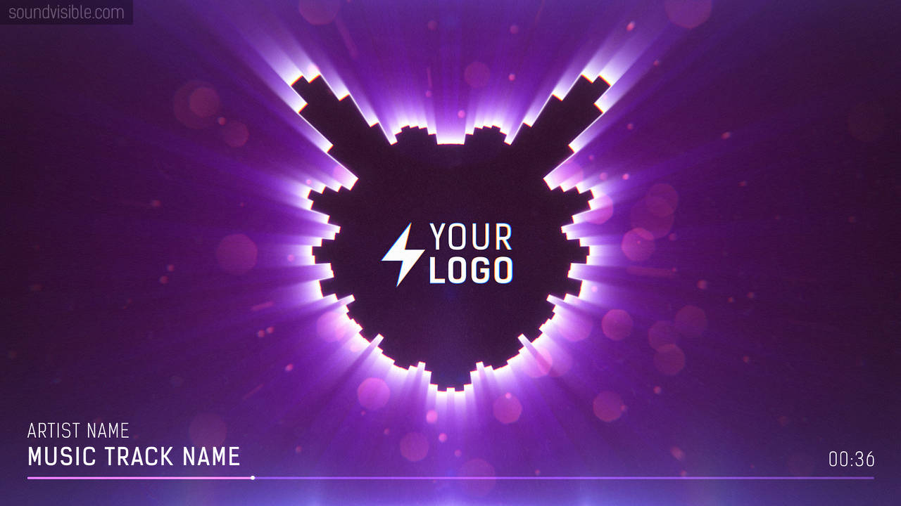 Halo Music Visualizer Template