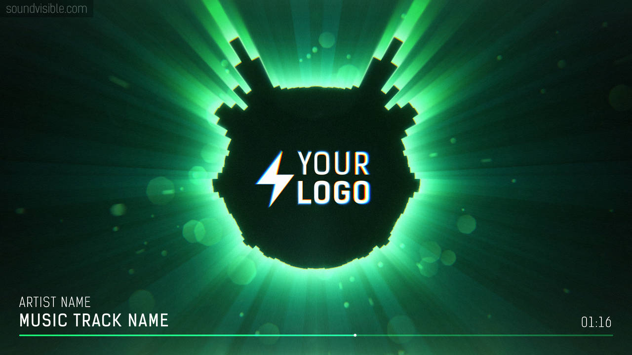 Halo Audio Spectrum Music Visualizer - Color Preset 05