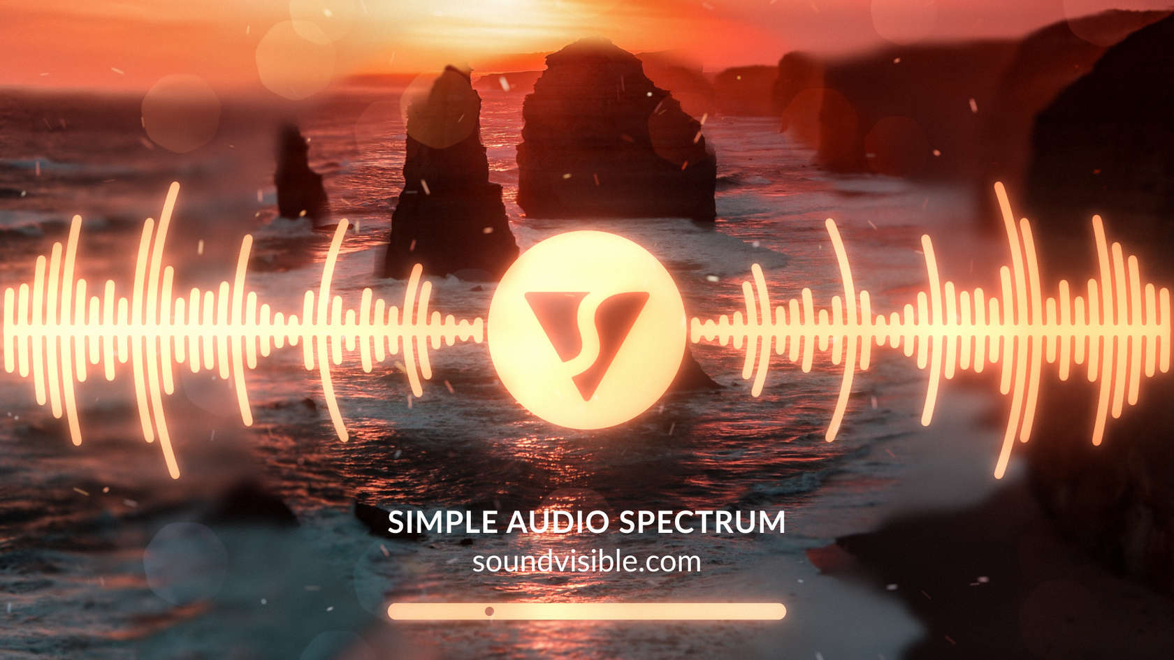Simple Audio Spectrum Music Visualizer - Style Preview 02