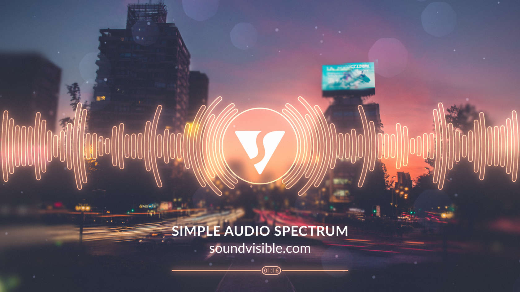 Simple Audio Spectrum Music Visualizer - Style Preview 06