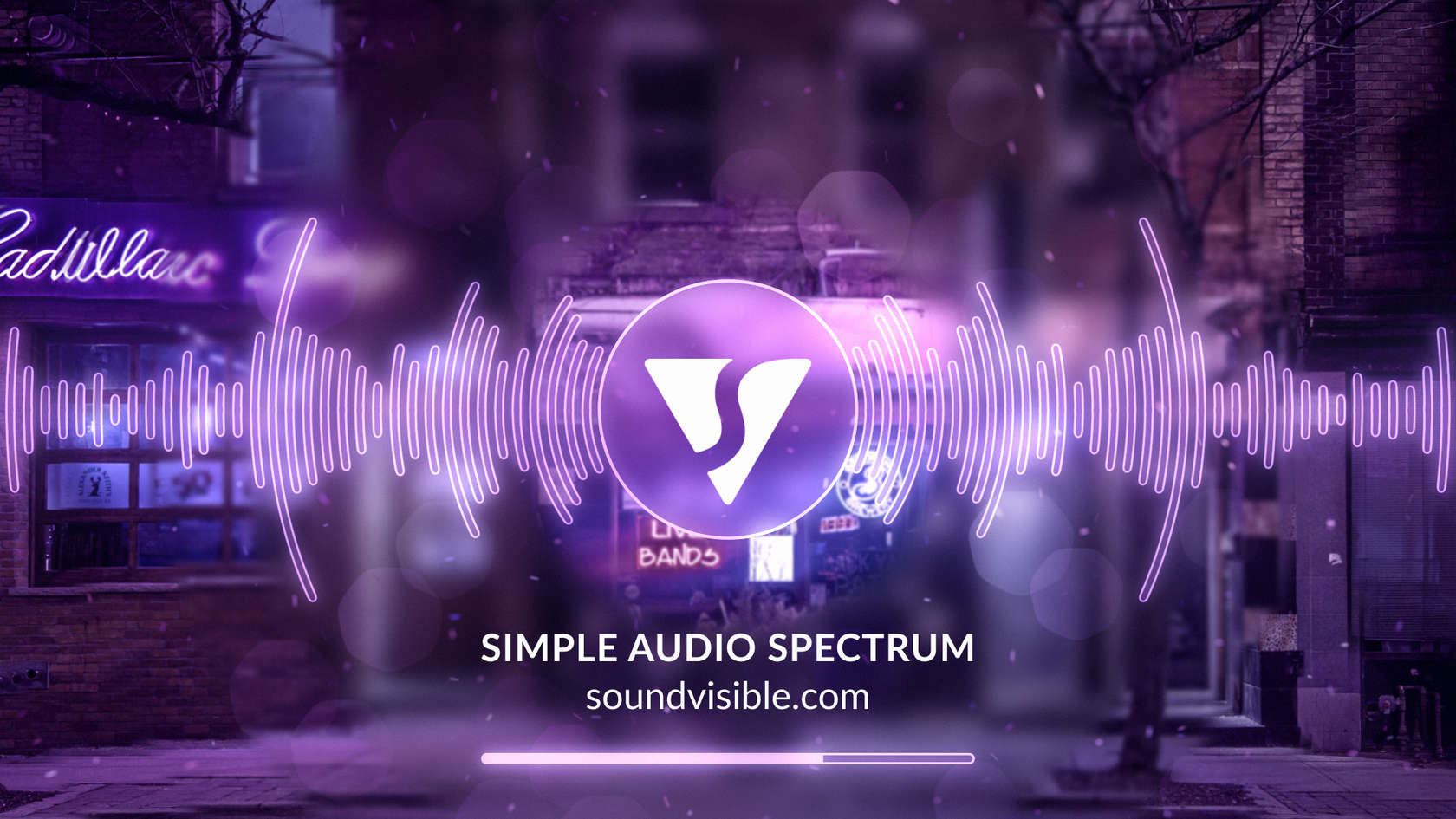 Simple Audio Spectrum Music Visualizer - Style Preview 09