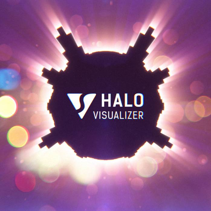 Halo Audio React Spectrum Music Visualizer After Effects Template